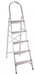 Escada Em Alumínio Doméstica 5 Degraus BelFix Promoção