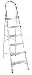 Escada Em Alumínio Doméstica 6 Degraus BelFix Promoção