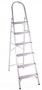 Escada Em Alumínio Doméstica 7 Degraus BelFix Promoção