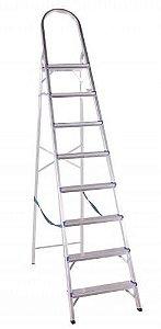 Escada Em Alumínio Doméstica 8 Degraus BelFix Promoção