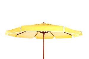 Ombrellone De Madeira Com Cobertura De Pvc 2,40m Amarelo Belfix