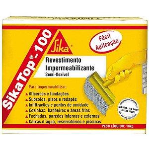 Revestimento impermeabilizante com 4kg TOP 100 SIKA
