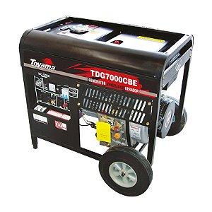 Gerador De Energia A Diesel 6000w TD7000CBE - Toyama