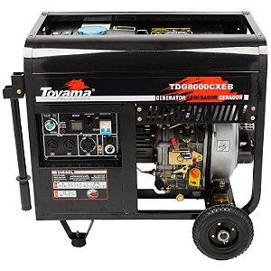 Gerador De Energia A Diesel 6500w TDG8000CXEB Toyama