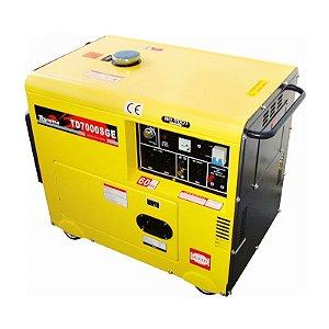 Gerador Energia Diesel Silenciado  Td7000sge 6 Kva - Toyama