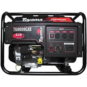 Gerador De Energia A Gasolina 7000w Tg8000cxe Toyama