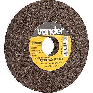 Rebolo Reto 6 X 3/4 Médio Vonder