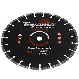 """Disco De Corte Diamantado Turbo Para Concreto 14"""" - Toyama"""
