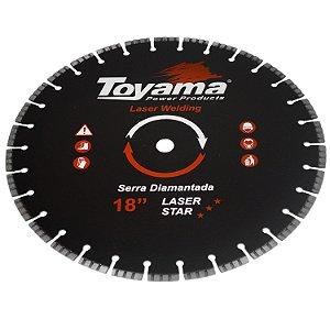 """Disco De Corte Diamantado Turbo Para Concreto 18"""" - Toyama"""