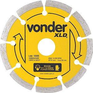 Disco De Corte Diamantado 110mm Segmentado Xld - Vonder