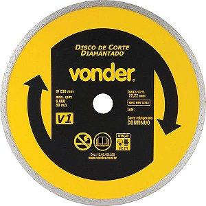 Disco De Corte Diamantado 230mm Contínuo V1 Vonder