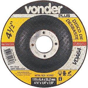 Disco De Desbaste 115mm X 6,4mm X 22,23mm Vda64 Vonder