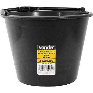Balde plástico uso geral 12 litros - VONDER