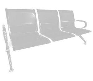 Cadeira Longarina 3 Lugares Pel-9601c - Pelegrin