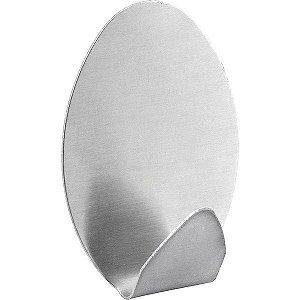 Gancho Adesivo Oval Em Inox Com 2 Peças Vonder