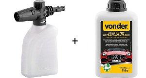 Lava Auto Flotador 1 Litros + Aplicador De Detergente Vonder