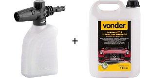 Lava Auto Flotador 5 Litros + Aplicador De Detergente Vonder