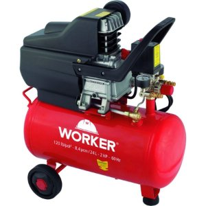 Compressor Ar 2hp 24l 8bar Worker