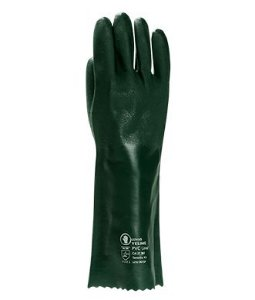 Luva PCV aspera  com forro 36 CM verde - YELING