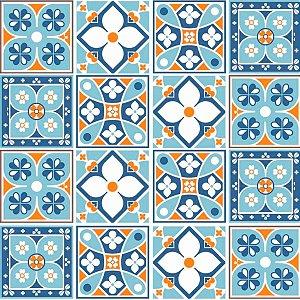 Adesivo de azulejo português hidráulico