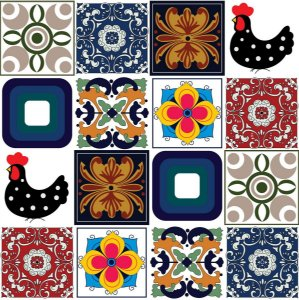 Adesivo de azulejo português tradicional