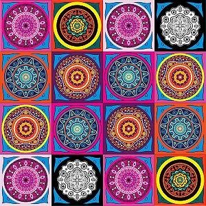Adesivo de azulejo mandalas