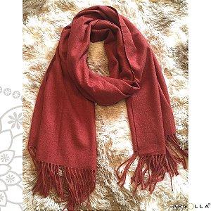 Pashimina de lãzinha/ terracota
