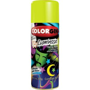 Spray Luminosa Amarelo 756 Colorgin (PÇ)