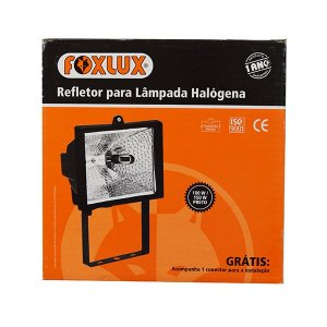 Refletor Halogena 150w Pt Foxlux (PÇ)