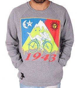 Moletom Chronic - Vou de Bike, cê sabe - Cinza