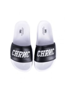 Chinelo Slide Chronic White and Black