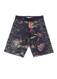 Bermuda Tactel Chronic - Black Floral