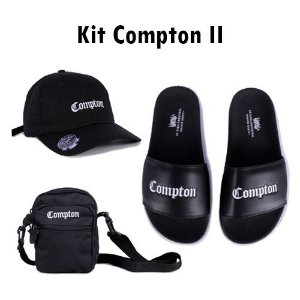 Kit Compton II Chronic - Boné + Shoulder + Chinelo