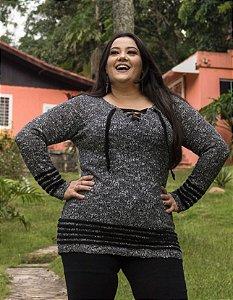 Blusa Plus Size com cordão