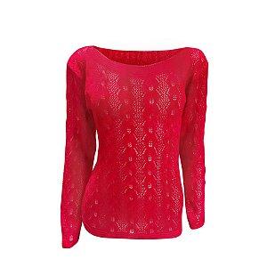 Blusa tricot furadinha