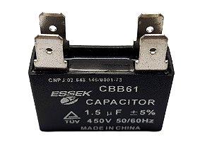 Capacitor 1.5 uf Ventilador 450 vac Para Ar Condicionado Split
