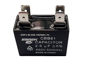 Capacitor 2.5uf Ventilador 450vac P/ Ar Condicionado Split