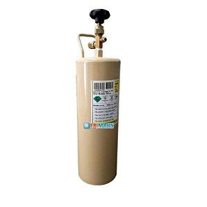 Cilindro Garrafa Para Transporte De Gás Refrigerante 2kg