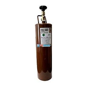 Cilindro Garrafa Para Transporte De Gás Refrigerante 2kg 410a