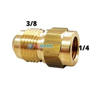 Adaptador 1/4 F X 3/8 M Para Mangueira De Vácuo Refrigeração