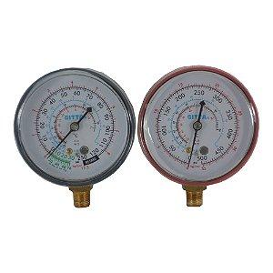 Manômetro Refrigeracão Para Manifold Baixa E Alta