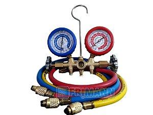 Manifold Ar Condicionado R22/r404a/r134a/r407c Manopla Metal