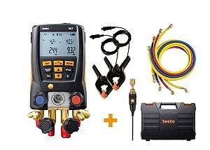 Manifold Digital Vacuômetro Testo 557 Bluetooth, Com Mangueiras TESTO