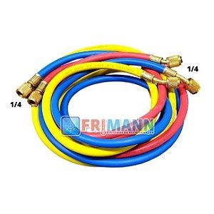 Conjunto Mangueiras Manifold Ar Split R22 R134 R404 R12 0,90 cm