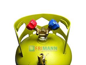 Tanque Cilindro Recolhedor Recarregável Gás 13,6kg Suryha