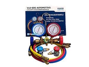 Manifold Automotivo Ar Condicionado R134 / R12/ R22/ R404 VULKAN