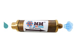 Válvula difusora para carga de fluido refrigerante