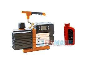 Bomba De Vácuo Com Vacuometro Digital 10 Cfm Ar Condicionado