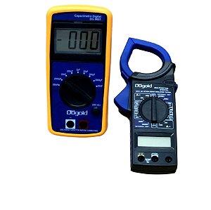 Capacimetro Digital + Alicate Amperímetro Com Ponteiras