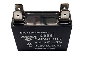 Capacitor 4,5 Uf Ventilador 450 v P/ Ar Condicionado Split